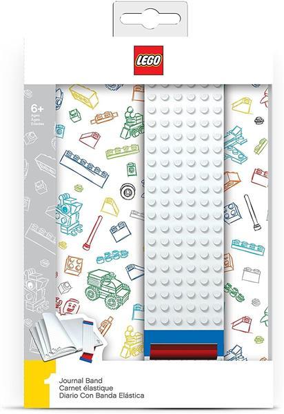 LEGO QUADERNO A5 1 RIGO CON ELASTICO COSTRUIB.