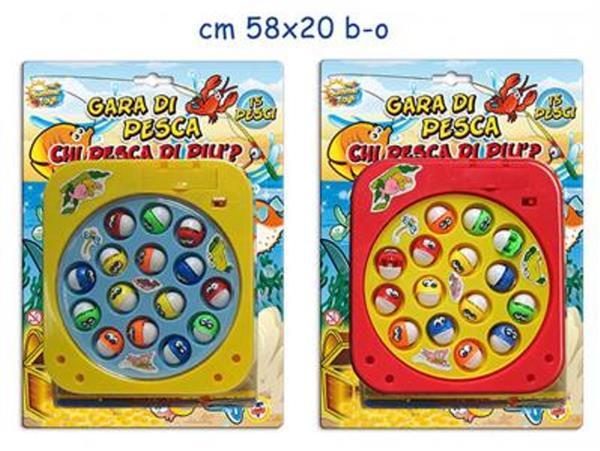 GARA DI PESCA 15 PESCI A BATTERIA D.NE CONF.CM.28X20