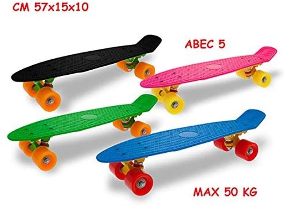 SKATEBOARD COL FLUO ABEC-5 50KG