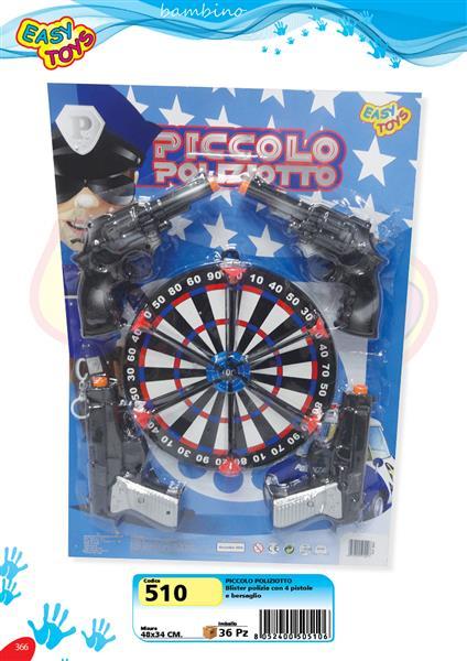 PICCOLO POLIZIOTTO+BERSAGLIO+ACC.
