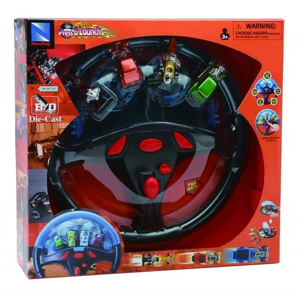 BOPRESS E LAUNCH WITH 4 RACERS TRY ME PLAYSET