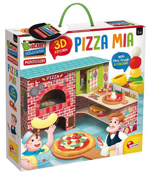 MONTESSORI PIZZA MIA 3D+PLASTILINA