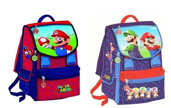 SCHOOL PACK ZAINO+ASTUCCIO 3 ZIP MARIO
