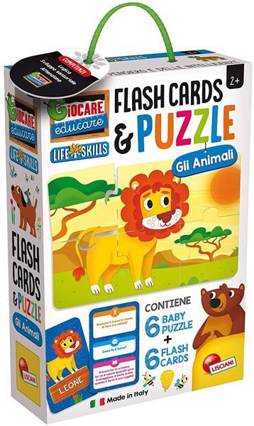 LIFE SKILLS BAY PUZZLE+FLASH CARDS GLI ANIMALI