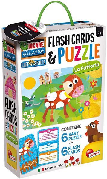 LIFE SKILLS BABY PUZZLE+FLASH CARDS LA FATTORIA
