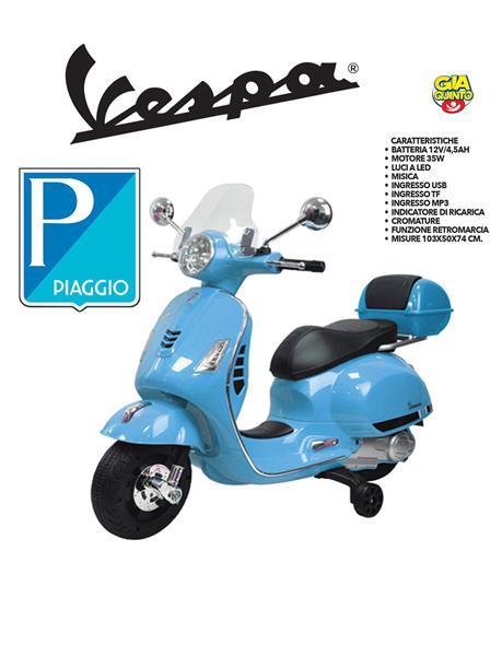 VESPA PIAGGIO GTS 12 VOLT BLU