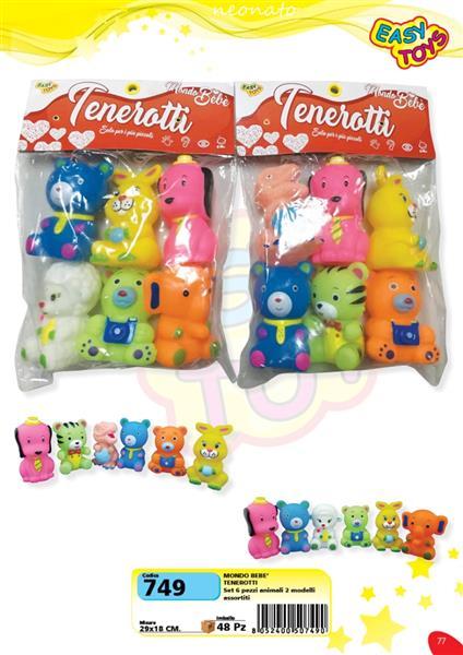 TENEROTTI ANIMALI 6 PZ.