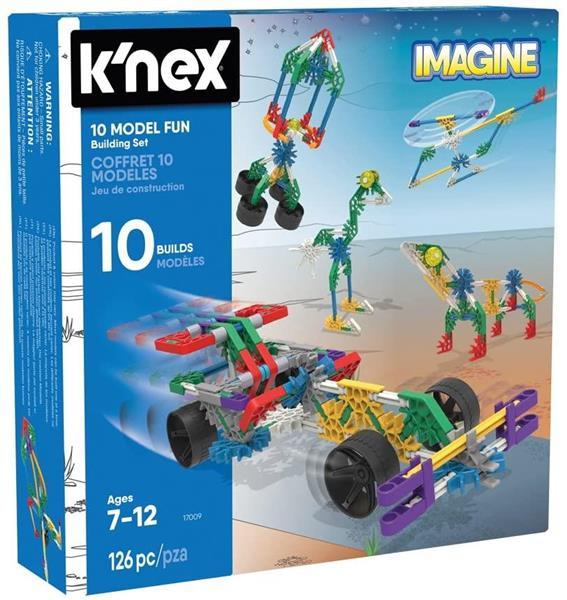 K'NEX IMAGINE 10 MODEL FUN 126 PZ.7/12 ANNI