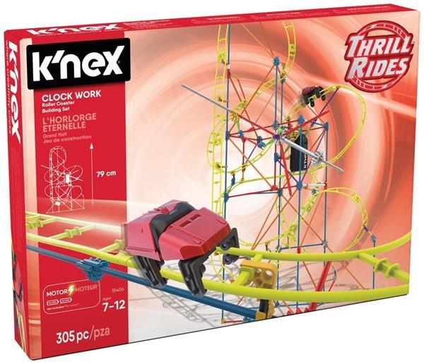 K'NEX RIDES CLOCK WORK 305PZ. 7/1 2ANNI