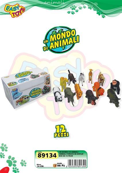 ANIMALI FORESTA 12 PEZZI