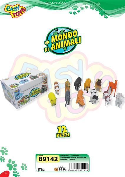 ANIMALI FATTORIA 12 PEZZI